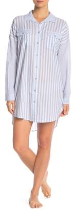PJ Salvage Denim Blues Stripe Button Down Shirt