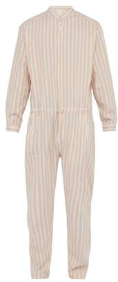 Marrakshi Life - Striped Cotton Blend Jumpsuit - Mens - Pink Multi