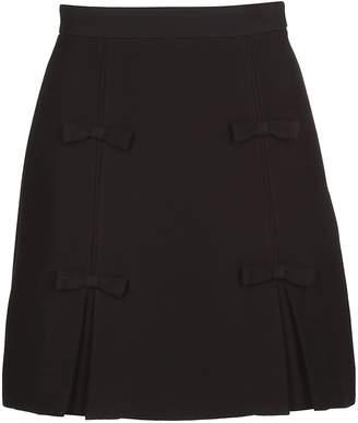 Miu Miu (ミュウミュウ) - Miu Miu Bow Detailed Skirt