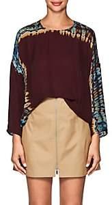 Raquel Allegra Women's Tie-Dyed Silk Blouse