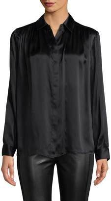 Jay Godfrey Women's Collar Pleated Top
