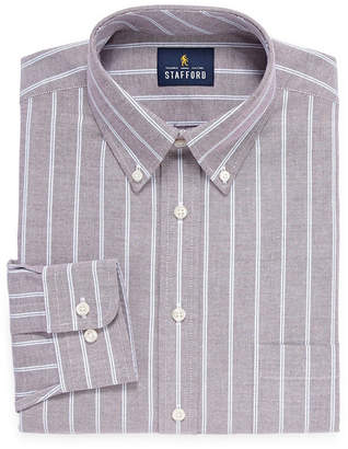 25cac03c4fa4c STAFFORD Stafford Travel Wrinkle-Free Stretch Oxford Long-Sleeve Dress Shirt.  JCPenney ...