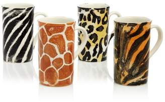 Vietri Into the Jungle Animal Skin Latte Mugs, Set of 4 - 100% Exclusive