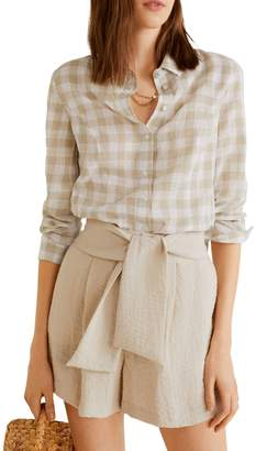 MANGO Planita Button-Down Shirt