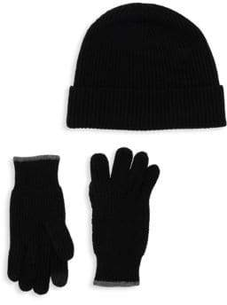 Saks Fifth Avenue Boxed Two-Piece Wool Cashmere Beanie & Gloves Set