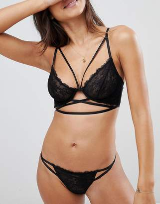 Asos DESIGN Becca Strappy Lace Thong