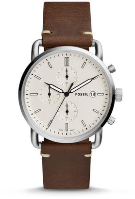 Fossil The Commuter Chronograph Brown Leather Watch