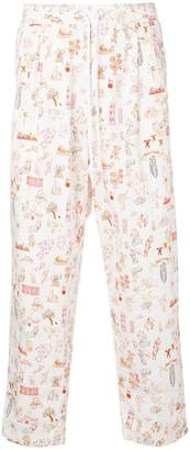 John Undercover drawing print track trousers