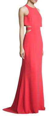 Halston Flowy Back Cutout Gown