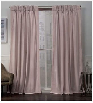 "Exclusive Home Velvet Heavyweight Pinch Pleat Top 27"" X 84"" Curtain Panel Pair"