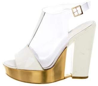 Chanel PVC Platform Sandals