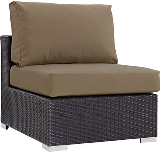 Modway Outdoor Convene Outdoor Patio Wicker Rattan Armless Sofa