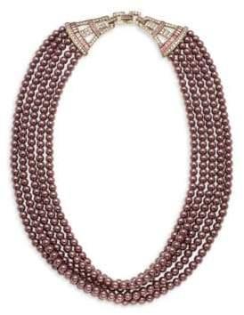 Heidi Daus Crystal Multi-Strand Necklace- 20in