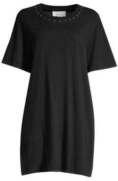 Current/Elliott Glitter Rock Cotton T-Shirt Dress