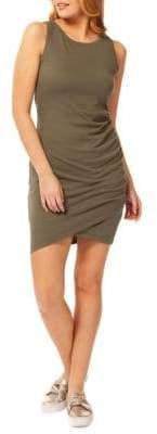 Dex Cotton-Blend Crossover Bodycon Dress