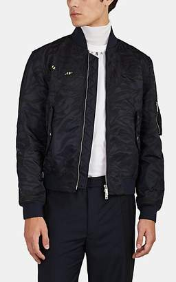 Valentino Men's Tiger-Appliquéd Bomber Jacket - Navy