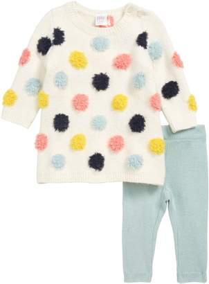 Nordstrom Dotted Sweater Dress & Leggings Set