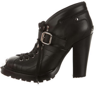Miu Miu Miu Miu Leather Lace-Up Ankle Boots w/ Tags