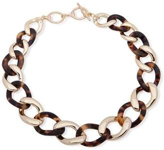 "Ralph Lauren Tortoiseshell Chain Link Collar Necklace, 18"""
