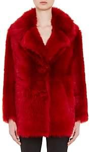 Prada Women's Sheep Shearling Oversized Coat - Red