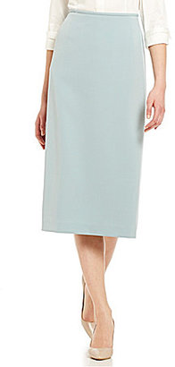 Preston & York Taylor Solid Stretch Crepe Skirt $59 thestylecure.com