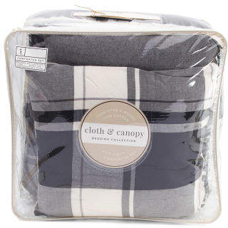 5pc Plaid Comforter Set