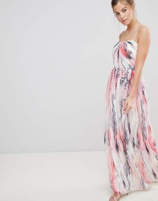 Little Mistress Bandeau Printed Maxi Dress