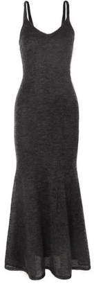 Max Mara Mohair-blend Maxi Dress - Gray