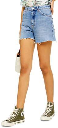 Topshop High Waist Cutoff Denim Shorts