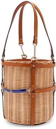 Gucci Cestino small woven-wicker bucket bag