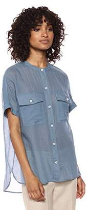 Theory Women's Short Sleeve Rilley Button Front Top
