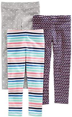 Carter's Simple Joys by Girls' Toddler 3-Pack Leggings