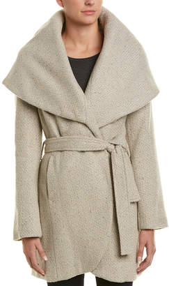 T Tahari Marla Tweed Wool-Blend Coat