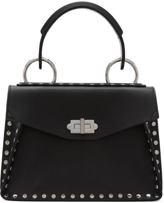 Proenza Schouler Black Studded Small Hava Bag
