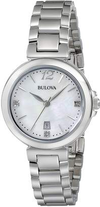 Bulova Women's 96P149 Diamond Gallery Analog Display Japanese Quartz Watch