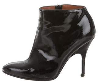 Lanvin Patent Leather Semi Pointed-Toe Booties