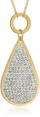 Chloé by Liv Oliver 18K -Plated Pear Drop Crystal Necklace