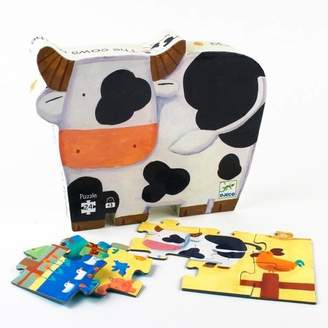 Little Baby Company Early Learning Farm Scene Silhouette Puzzle 24 Pcs