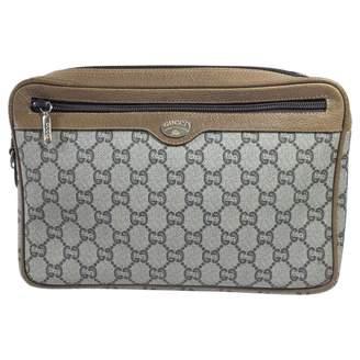 Gucci Vintage Camel Leather Clutch Bag