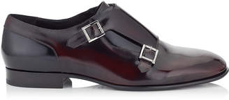 Jimmy Choo TATE Bordeaux and Black Soft Shiny Calf Leather Formal Shoes