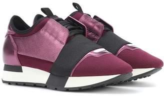 Balenciaga Race Runner metallic leather sneakers