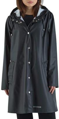 Stutterheim Mosebacke Lightweight Raincoat, Black
