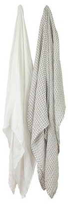 Little Unicorn Deluxe Cotton Muslin Blanket 2pk - Houndstooth $29.95 thestylecure.com