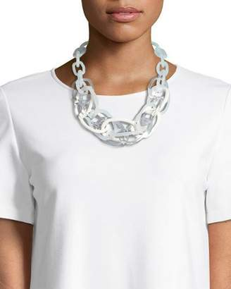 Lafayette 148 New York Multicolor Oval Chain Link Statement Necklace