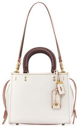 Coach 1941 Rogue 25 Two-Tone Leather Shoulder Bag, White $595 thestylecure.com