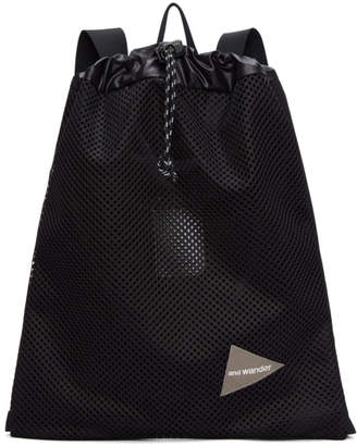 and Wander Black Mesh Backpack