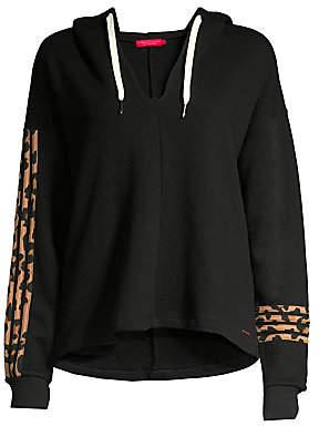 n:philanthropy Women's Winslow Hooded Leopard-Stripe Sweatshirt