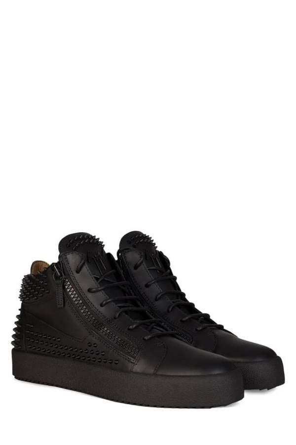 GiuseppeZanottiKrissStudsMidRiseSneakersBlack