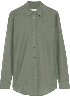db4af65f0863e Equipment Essential Coated Cotton And Silk-blend Shirt