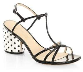 Marc Jacobs Sheena Leather T-Strap Studded Sandals
